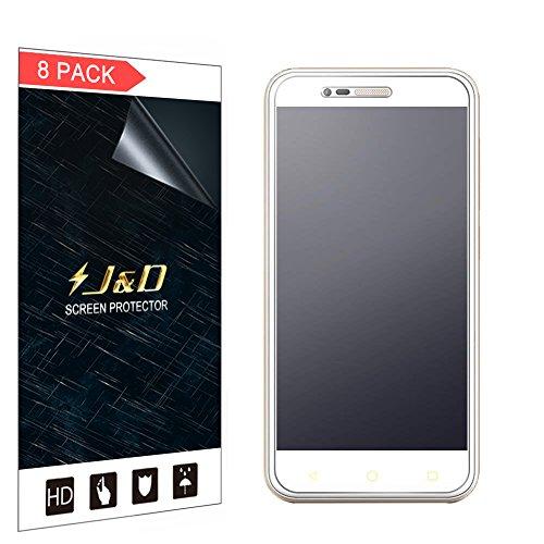 JundD Kompatibel für 8er Packung Smart Prime 7 Bildschirmschutzfolie, [Antireflektierend] [Nicht Ganze Deckung] Hochwertige Matte Folie Schutzschild Bildschirmschutzfolie für Vodafone Smart Prime 7