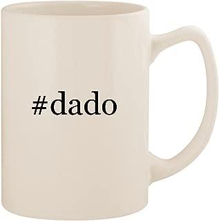 #dado - White Hashtag 14oz Ceramic Statesman Coffee Mug Cup