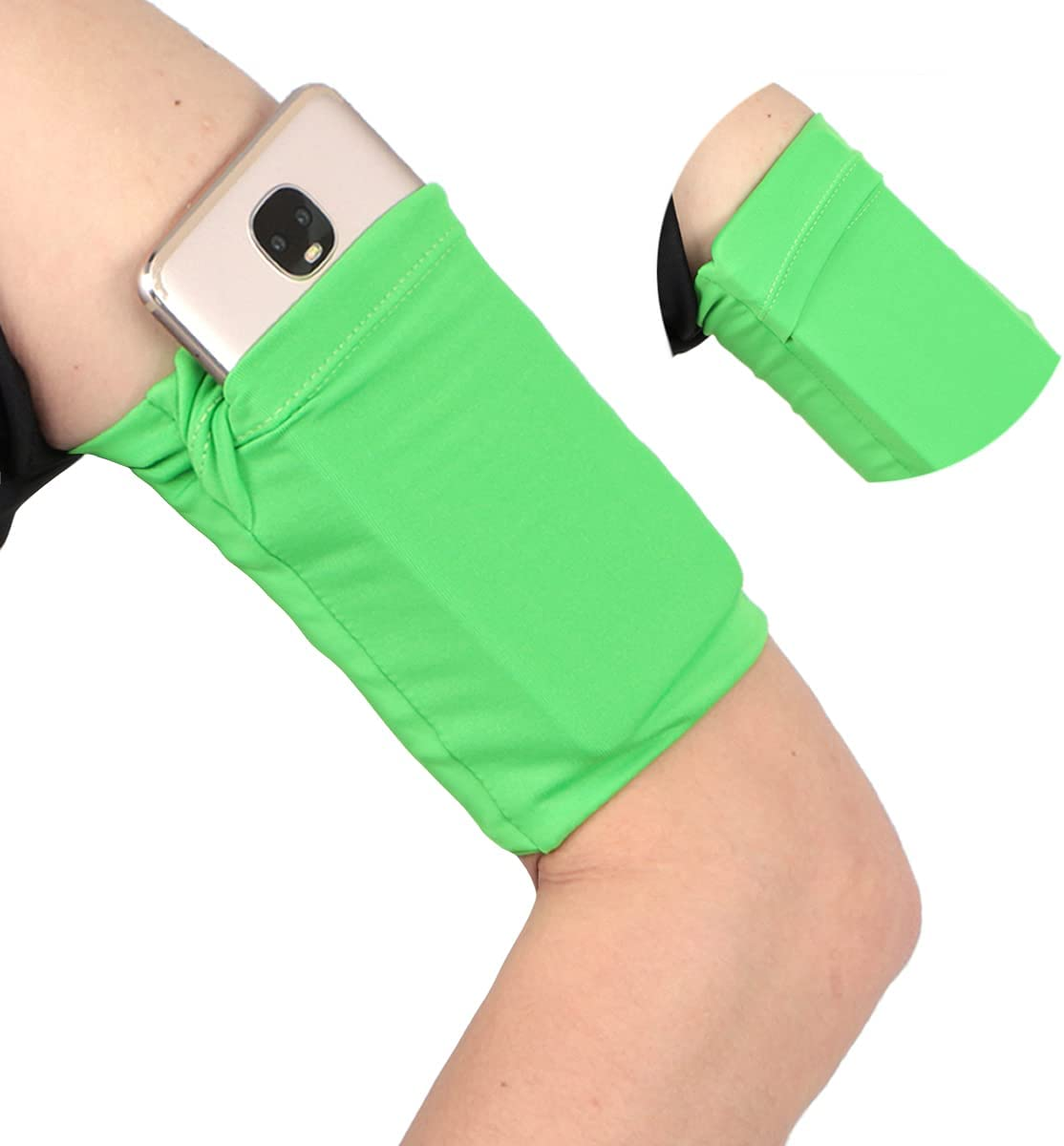 Running Wristband Armband for Cellphone Keys Running - Cell Phone Arm Band Sleeve Holder Pouch for iPhone 6 6S 7 8 X XR XS 11 Pro Android Samsung Galaxy Running Jogging Walking Exercise - Small/Green