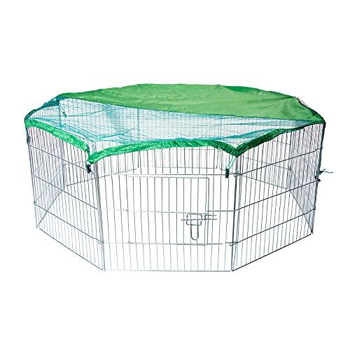 AQPET Recinto recinzione box per animali cani gatti roditori 60x60cm per esterno giardino con rete parasole