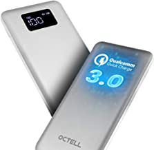 XCLUSY Octell Power Bank Power Bank 10000mah Fast Charging with LED Torch and Digital LCD Display Silver