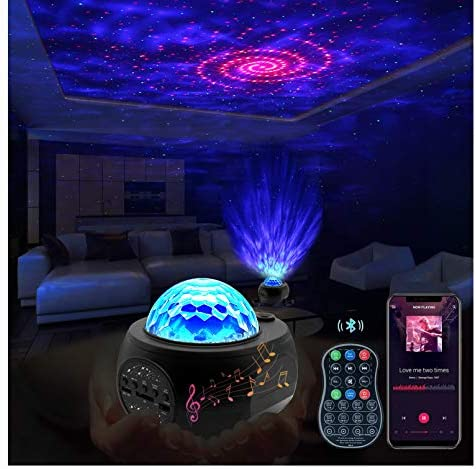KFK Galaxy Star Projector Night Light Projector with Remote Control Music Speaker for Bedroom product image