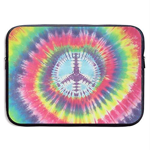 Bolsas para computadora portátil con Logotipo pacifista renderizado en Colores compatibles con Tableta Netbook de 15 ″, maletín con Funda, Funda para Bolso