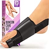 Bunion Splint - Orthopedic Bunion Corrector (2pcs) - Non-Surgical Hallux Valgus Correction - Hammer Toe Straightener - Big Toe Straightener - Hallux Valgus Pain Relief Fits Men and Women