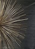 QND,Mural,Impresión de Lienzo Pintura Arte Abstracto Cartel de Pared Minimalista Dorado Negro Envolvente Mural decoración del hogar Sala de Estar Pintura de Pared, 2,13x18cm sin Marco