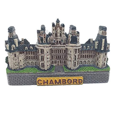 Aimant de réfrigérateur 3D Château de Chambord France Décoration de bureau et de table Décoration de maison et de cuisine
