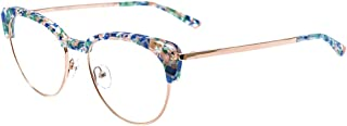 Brescia BLPK Blue Pink Plastic Cat-Eye Eyeglasses 52mm