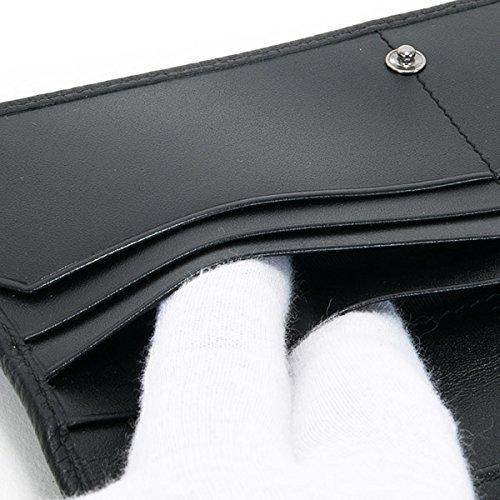 ブルガリBVLGARI財布長財布メンズレザー本革二つ折りチェーン付きオクトOCTOブラック黒36970シンプル