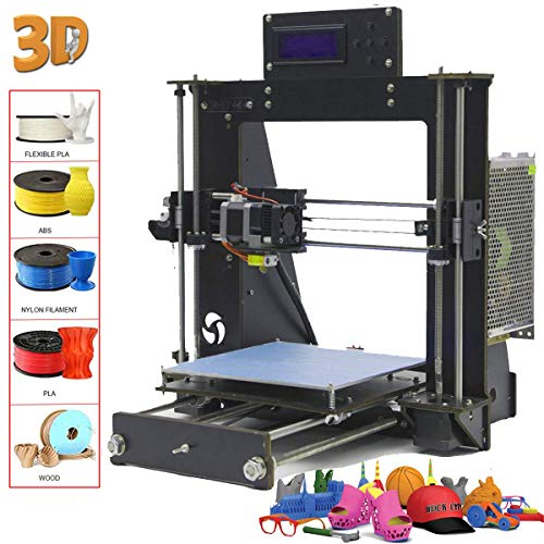 GUCOCO A8 3D Printer Upgraded Full Quality High Precision Reprap Prusa i3 DIY 3D Printer with 1.75mm ABS/PLA Filament(Build Size 200×200×180mm) (A8 Prusa i3 3D Printer)