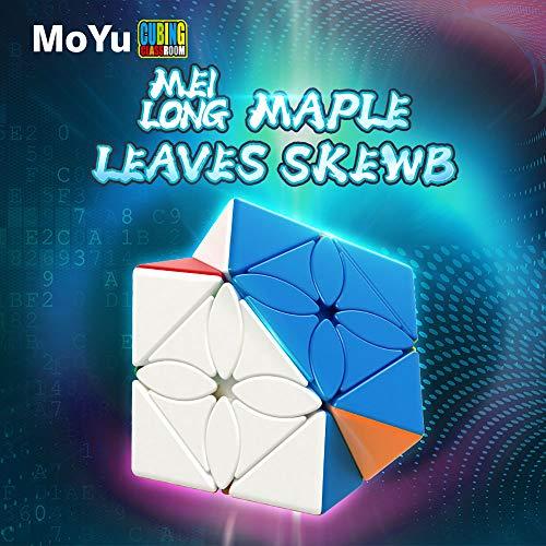 MoYu MoFangJiaoShi Cubing Classroom Meilong Hojas de Arce Skewb Magic Cube Puzzle Cube Special Smooth Twist Toys sin Etiqueta Stickerless