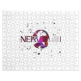 Neon Symbol Logo Manga Anime Evangelion Nerv Genesis Designed Jigsaw Puzzle 252 Pieces 10x14 Inches Non-Toxic