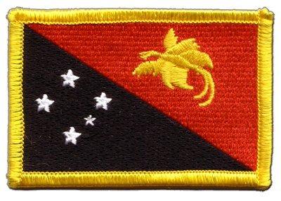 Aufnäher Patch Flagge Papua-Neuguinea - 8 x 6 cm