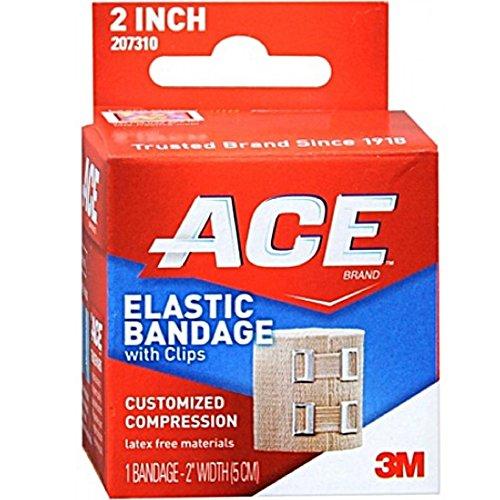 ACE Vendaje elástico (cierre de gancho) 2 pulgadas 1 cada uno por ACE