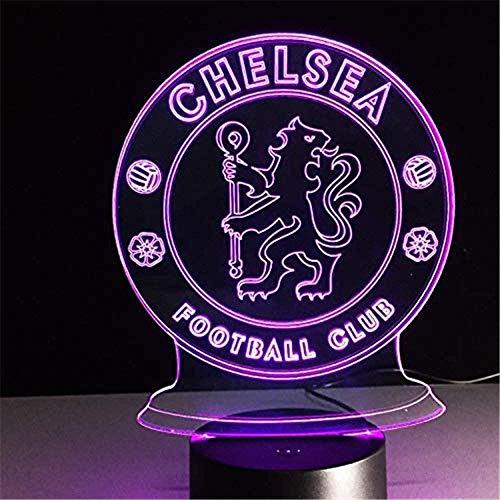 BZL POP LED Chelsea Football Club 3D lámpara USB 7 Colores Cool Base Brillante decoración lámpara de Mesa niños Dormitorio Luces de Noche
