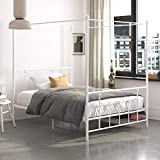 DHP Manila Metal Canopy Bed Frame - Queen Size (White)