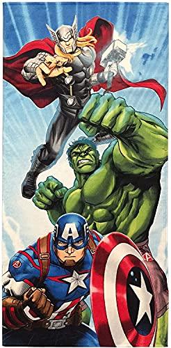 Hulk Toalla de playa Superhero para niños y niñas, toallas multifuncionales en varios tamaños, regalos para niños (hero4, 75 cm x 150 cm)