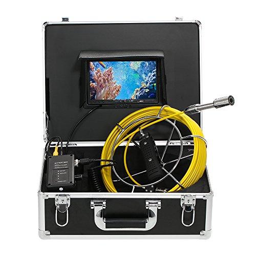 """Lixada Ecoscandaglio da Pesca 20M Drain Tubo Fogna Ispezione Telecamera Subacquea IP68 Impermeabile Industriale 7"""" LCD Monitor 12 LEDs Notte Visione"""