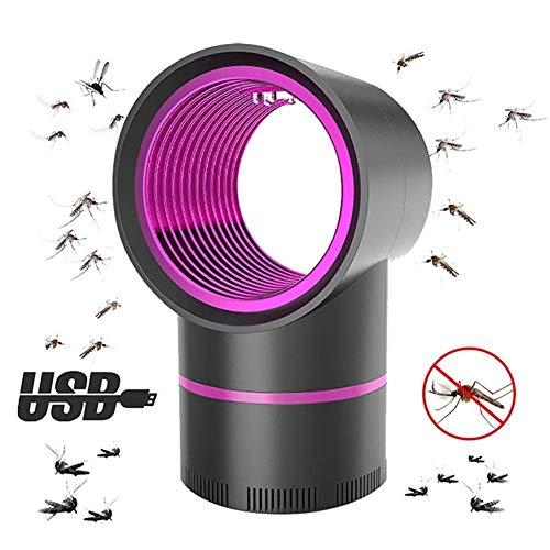 HUBi Lampe d'intérieur Mosquito Killer, USB à Del photocatalyse Physique Bionic Piège à Insectes Lampe, Convient for Chambre/Cuisine/Salon (Color : Black)