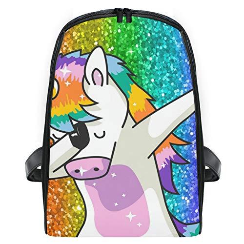 Backpack For Boys And Girls Women's Backpack Cartoon Mini Travel Bag Rainbow Glitter Unicorn Star