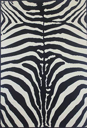 Wild N Funky - Alfombra (120 x 170 cm), diseño de Cebra, Color Negro