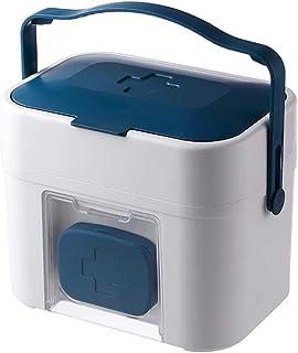 Boîte de rangement XIAOXIAO Boîte De Médecine Domestique pour Médicaments pour Enfants Murale Portable (Color : Blue)