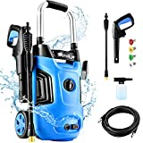 Pressure Washer, Suyncll Power Washer 1.71GPM Electric Pressure Washer 1800W Power Washer Electric ,4 Nozzles for Patio Garden Yard Vehicle(Blue)