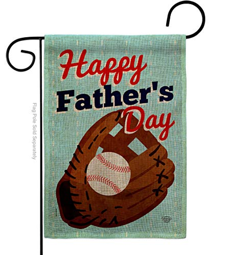Ornament Collection Father's Day Game Burlap Garden Flag Family Dad Daddy Papa Grandpa Best Parent Sibling Relatives Grandparent House Decoration Banner Small Yard Gift Double-Sided, Made In USA