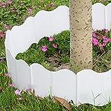 Panonw - 20 bordi decorativi per bordi da giardino, bordo ad incastro rapido, in plastica, per giardino e paesaggio (14 x 16 cm ciascuno), colore: Bianco