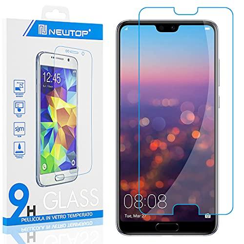 N NEWTOP [1 Pezzo] Pellicola GLASS FILM Compatibile per Huawei P20 Lite, Fina 0.3mm Durezza 9H in Vetro Temperato Proteggi Schermo Display Protettiva Anti Urto Graffio Protezione