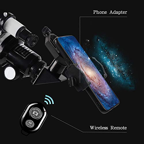 51bqDxL LOL - ToyerBee Telescope for Kids &Adults &Beginners,70mm Aperture 300mm Astronomical Refractor Telescope(15X-150X),Portable Travel Telescope with an Adjustable Tripod,A Phone Adapter&A Wireless Remote