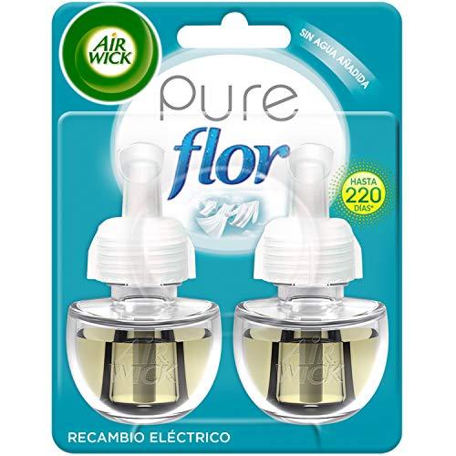Air Wick Eléctrico Recâmbios de Ambientador Automático Eléctrico, Esencia para Casa con Aroma a Ropa Limpia Flor - 2 Unidades
