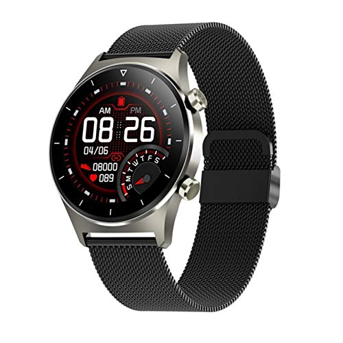 DZX Nuevo E13 Smart Watch Men's Heart Rate Presión Arterial Bluetooth Call Fitness Tracker Smart Watch Hombres,A