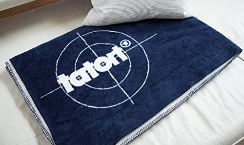 KOLTER Tatort Tatort-Decke Wolldecke Decke für Tatort-Fans Kuscheldecke Couchdecke 150 cm x 200 cm