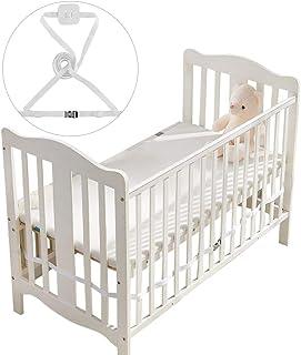 Gurt für Babybett,Beistellbett Befestigung,Beistellbett Gurt,Gurt für Boxspringbetten,Beistellbett Gurt Weiß Weiß