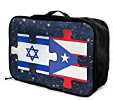 NA Israel puerto rico fahnen puzzle reisetasche leichte große kapazität einkaufstasche tragbare gepäcktasche handtasche