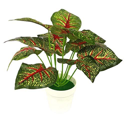 PINBinyee Plantas artificiales para interiores en macetas, plantas artificiales en maceta de imitación, bonsái artificial para el hogar, decoración de escritorio – 4
