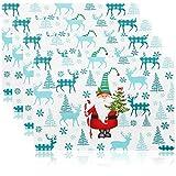 com-four® 4X tovaglietta XL per Natale - tovaglietta con Motivi Natalizi - tovagliette all'Americana per Cucina e Sala da Pranzo - tovagliette all'Americana