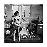 Poster sur toile Singer Amy Winehouse 14 - Décoration de chambre à coucher, de sport, de paysage, de bureau, sans cadre : 70 x 70 cm