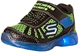 Skechers Illumi-Brights-Tuff Track, Zapatillas Niños, Multicolor (BBLM Black Synthetic/Lime & Royal Trim), 24 EU
