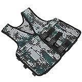 Chaleco Ajustable, Camuflaje con 16 Bolsas De Chaqueta De Ejercicio con Peso Ajustable Chaleco para Entrenamiento Militar/Policial para Entrenamiento Policial para Corredores