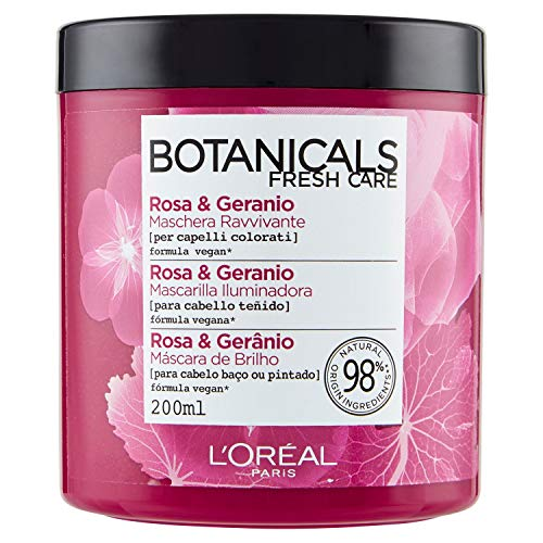 L'Oreal Paris Botanicals Mascarilla Remedio de Brillo, para cabellos opacos...
