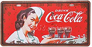 Drink Coca Cola, Embossed Metal Tin Sign, Wall Decorative Sign By 66reto