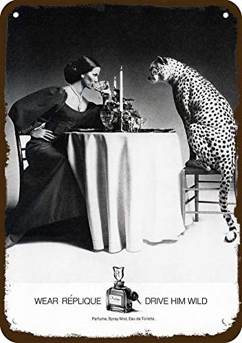 Yilooom 1972 Replique Perfume Vintage Look Réplica Metal Sign 7' x 10'- Not Real Perfume.