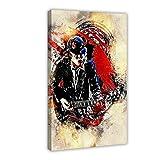 Angus Young - Póster de guitarra (60 x 90 cm), diseño de guitarra