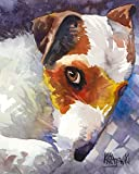 jack russell at the beach signed art print