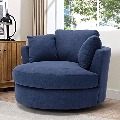 showyow único The New Agiotage Upgrade Rotating Accent Chair Bucket Chair para la Sala de Estar del Hotel/Modernistic Ocio Silla reclinable Suave y Relajante (Color: Beige)