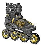 Roces Argon Inline Skate para Hombres, Hombres, Negro/Ámbar, 36