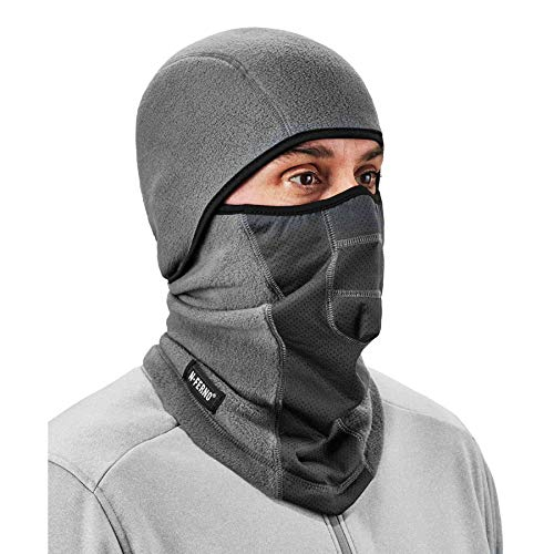 Ergodyne N-Ferno 6823 Balaclava Ski Mask, Wind-Resistant Face Mask, Hinged Design, Each, Gray
