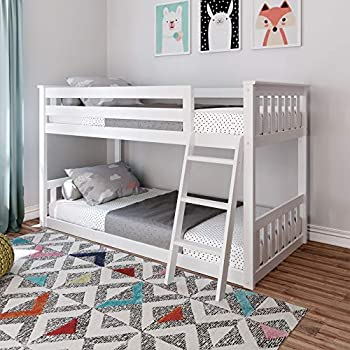 Max & Lily Low Bunk Bed Twin White