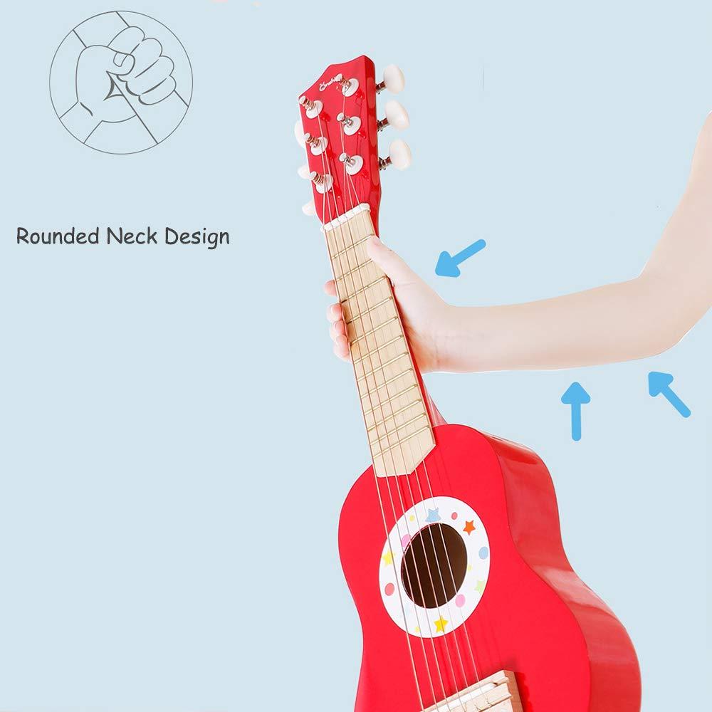 XTDGN Guitarra acústica para los niños, de 6 Cuerdas Guitarra ...